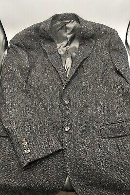 Brooks Brothers - Harris Tweed Sport Coat - Size 44R - Grey/Black -100% Wool A12