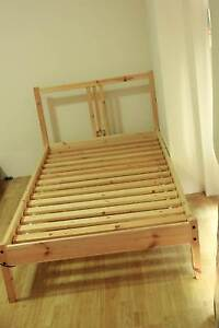 Single Ikea Bed, Bed Base & Single Firm Mattress 8 year warranty Macquarie Park Ryde Area Preview