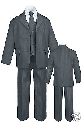 Infant Toddler Teen Boy Wedding Graduation Tuxedo Suit S ...
