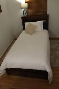 Luxury Hardwood King Single Bed Frame Including Mattress - New Hawthorn Boroondara Area Preview