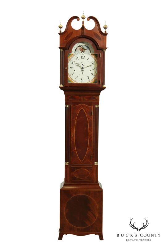 Sligh Thomas Harland, Henry Ford Museum Mahogany Inlaid Grandfather Clock