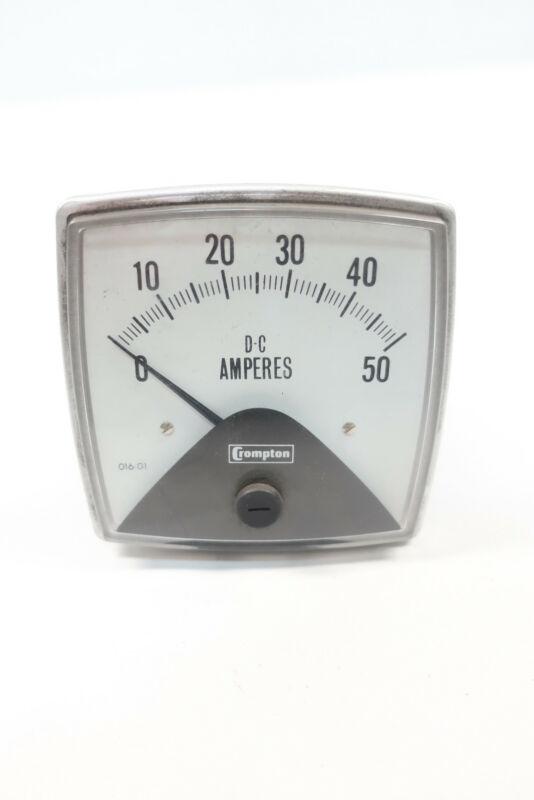Crompton 016-01AA-NTNT Ammeter 0-50dc Amp