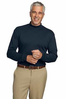 Port Authority Men's Interlock Knit Mock Turtleneck - K321 FREE -