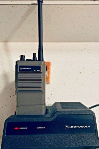 Motorola HT600 2-Way  VHF  Handheld Radios Battery & Charger & Original Box