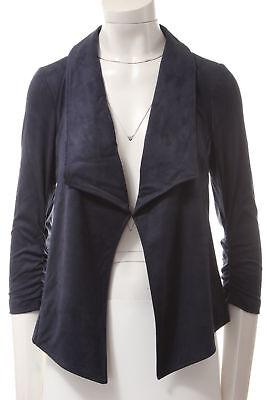 ALFANI $119 NEW T1917 Faux-Suede Draped Cardigan Womens Blazer Jacket XS