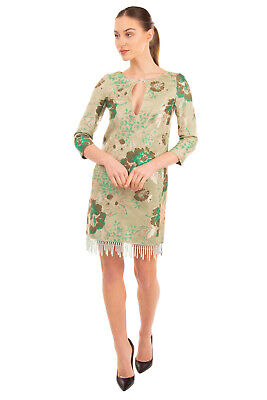 RRP€405 CHRISTIAN PELLIZZARI Jacquard Sheath Dress Size IT 42 / S Made in Italy