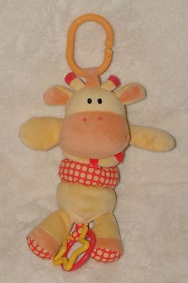 - Koala Baby Giraffe Plush Pull Toy Crib Stroller Clip Yellow Orange Rattle
