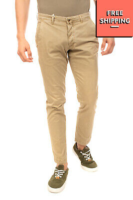 BRIGLIA 1949 Chino Trousers Size 33 Stretch Beige Worn Look Made in Italy