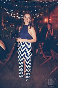 Blue and white maxi dress Carlton North Melbourne City Preview