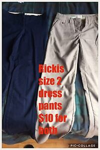 Two pairs of rickis size 2 dress pants
