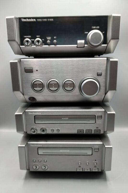 Technics Hi-Fi Mini System HD55 HD75 Tuner CD Player Cassette Deck AMP - Working
