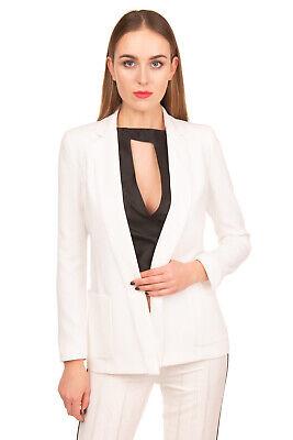 RRP €340 ARMANI JEANS Blazer Jacket Size 48 / XXL Open Front Notch Lapel Collar