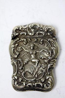 Antique Sterling Silver Art Nouveau Match Holder Match  case
