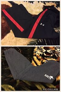 Roots and under Armour pants for boys