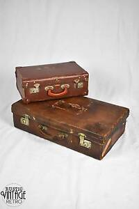 Two Vintage Suitcases (One Large & One Small) Ultimo Inner Sydney Preview