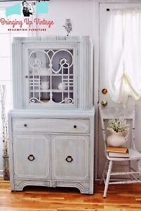 Charming Antique chic China Cabinet.  Excellent condition!