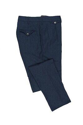 INCOTEX Dark Blue Sartorial Casual Pant Flannel Wool 38 US / 54 EU Slim Fit
