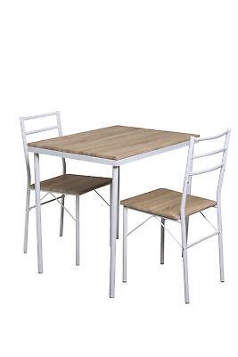 Essgruppe Köln 3 teilig Küchenset Küche Eiche Dekor Tisch und Stühle Esszimmer  (Dekor-tisch Wohnzimmer)