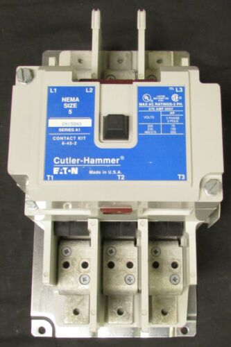 EATON CUTLER HAMMER CN15SN3AB Size 5 CN15SN3 Contactor 270 Amp Freedom Series