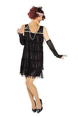 Kostüm Charleston Kleid 20er Jahre Fransenkleid Flapper Krimi bis Gr.50 Fasching