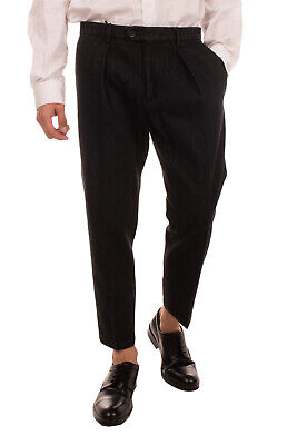 RRP €120 BE ABLE Pleated Trousers Size 33 Garment Dye Cropped Made in Italy