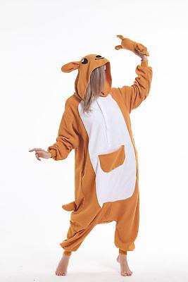 sqlszt Adult Unisex Kigurumi animal Kangaroo Onesie0 Pajamas Cosplay Costume (Kangaroo Costume Adult)