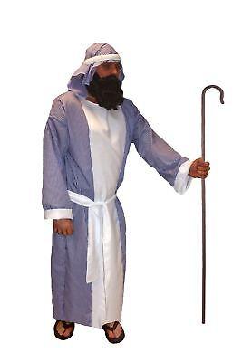 Joseph Striped Shepherd Nativity Fancy Dress Christmas Religious Male Costume - Male Halloween Costumes Uk