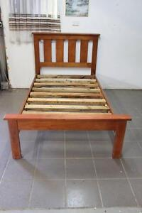 King Single wood Bed very good condition Burpengary Caboolture Area Preview