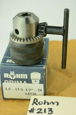 Rohm Quality Key-type Drill Chuck Prima S 13s Mount 12-20 Cap 132 - 38