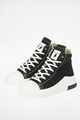 CINZIA ARAIA men Sneakers Size 44 Ita Black Canvas Hi Top Shoes Black 44 (Sho...