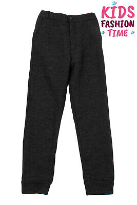 ANNE KURRIS Sweat Trousers Size 14Y Wool Blend Elasticated Back Made in Portugal