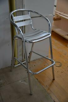 Aluminium Bar Stool X 2 (each)