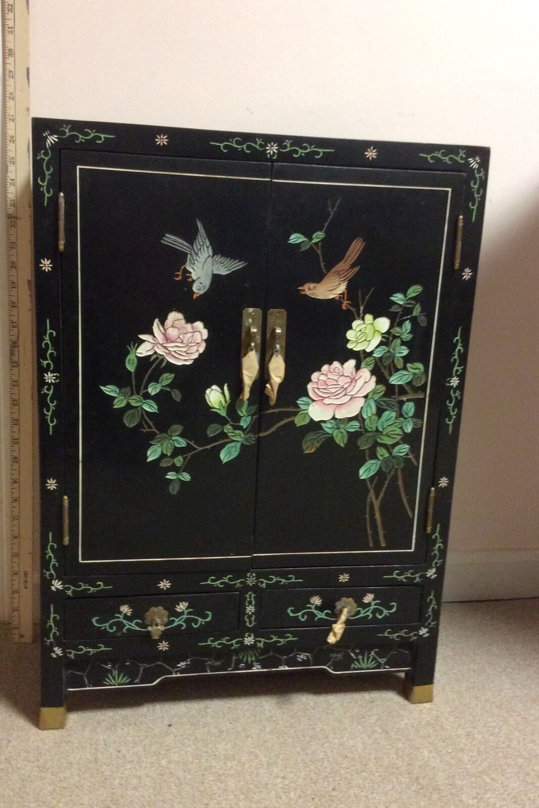 Купить chinese furniture, hand engraved and painted wooden lacquered cabinet