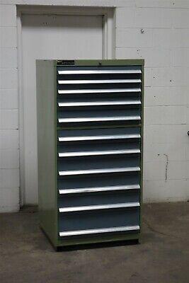 Used Bott Waterloo 11 Drawer Cabinet Industrial Tool Storage 1965 Vidmar