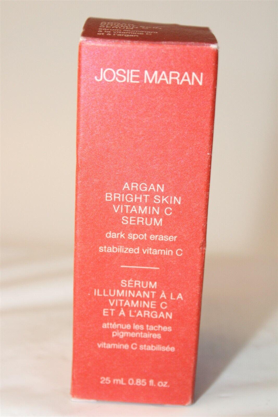 Josie Maran NEW Argan Bright Skin Vitamin C Serum Dark Spot Eraser 0.85 Fl. Oz.  - $20.00