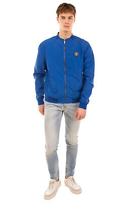 RRP €410 DIRK BIKKEMBERGS Bomber Jacket Size 52 / L Partly Lined Full Zip