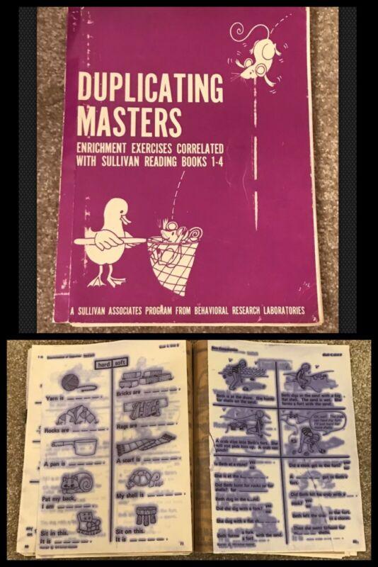 Vintage Reading Teacher Worksheets Master Copy Elementary School Mimeograph 1972