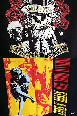 lot of 2 rare Guns N Roses VINTAGE concert tour shirt s/xs Axl Rose revival
