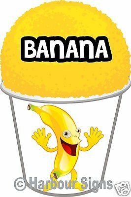 2 Banana Shaved Ice Shave Snow Cone Italian Decal 7 Concession Food Truck