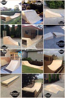 Modify Ramps - Skateboard / Scooter / BMX Custom Built Ramps