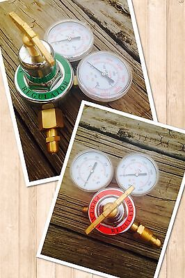 Propane Oxygen Set Of 2 Torch Regulators For Brazingcutting Weldingbrass