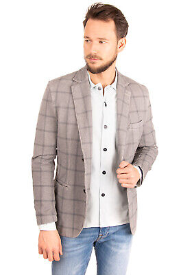 RRP €295 CIRCOLO 1901 Blazer Jacket Size 54 Check Partly Lined Single-Breasted