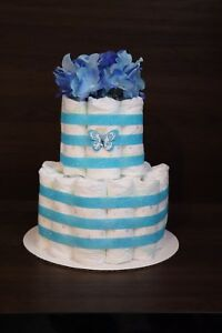 Blue Butterfly Diaper Cake