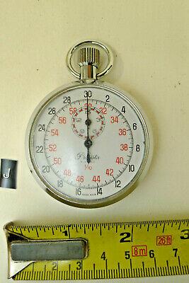 j) Vintage PRECISTA MILITARY POCKET STOP WATCH BROADARROW issued PHEON timer
