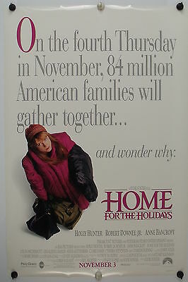 HOME FOR THE HOLIDAYS  Robert Downey Jr. Original Movie Poster 1995 Rolled DS