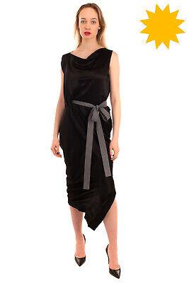 RRP €455 VIVIENNE WESTWOOD ANGLOMANIA Satin Asymmetric Hem Dress Size 44 / L