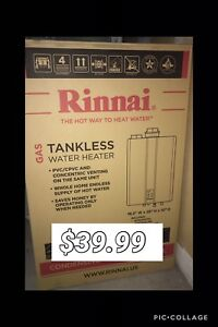 Tankless water heater $39.99