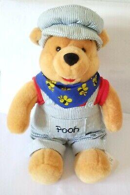 "Disney Store Winnie The Pooh Choo Choo 14"" Sitting Plush"