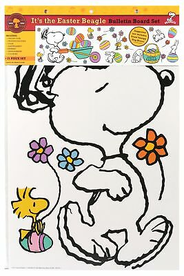 Eureka Peanuts It's the Easter Beagle Bulletin Board Sets (847685) - Easter Bulletin Board