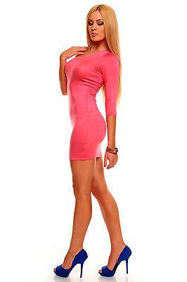 Sexy Minikleid Kleid Partykleid Gr. M/L Damen Lachs One Shoulder